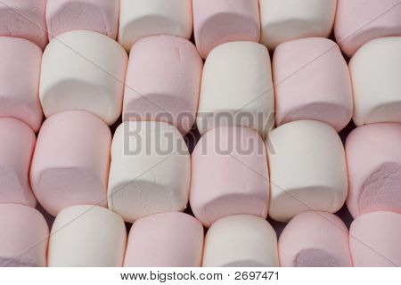 Marshmallows Pattern Background