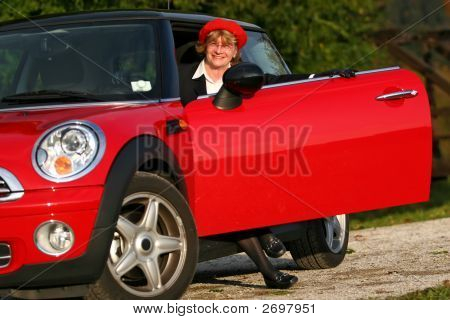 Senior In Sports Car