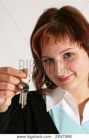 Girl With Keys