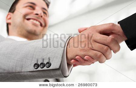 Unternehmer, die Hand schütteln