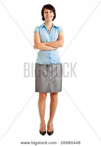 Porträt geschäftsfrau in voller Länge