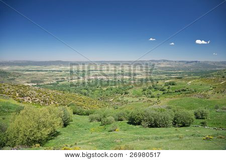 Piedrahita Village From Mountains