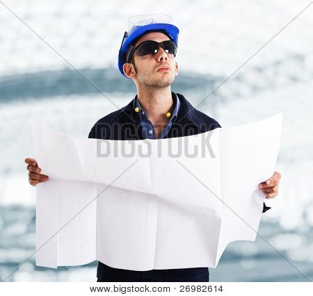 Portrait of an engineer at a construction site