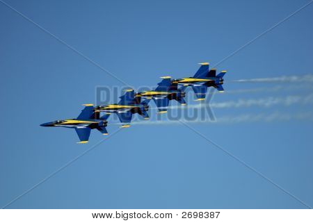 Blue Angeles In Formation