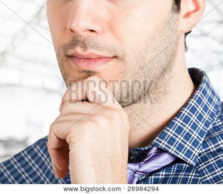 Closeup portrait of a man's face