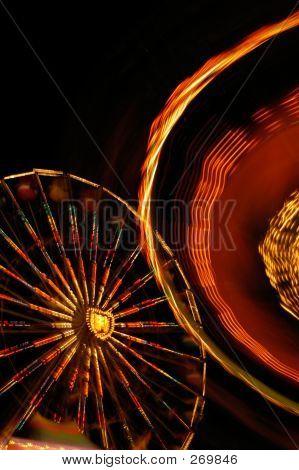 verschwommene Karneval Fahrten abstract