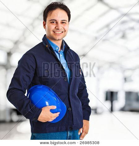 Engineer portrait in a site plant