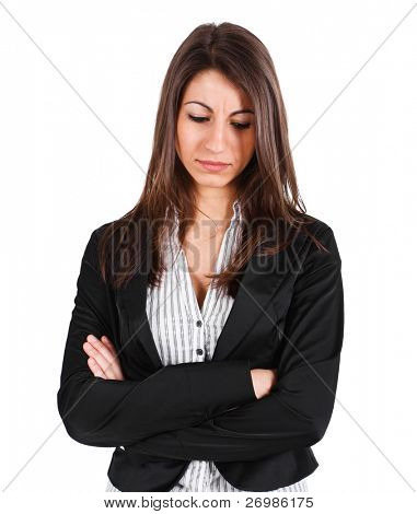 Portrait of a thoughtful businesswoman
