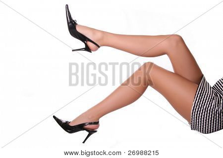 Long legs in the shoes stud