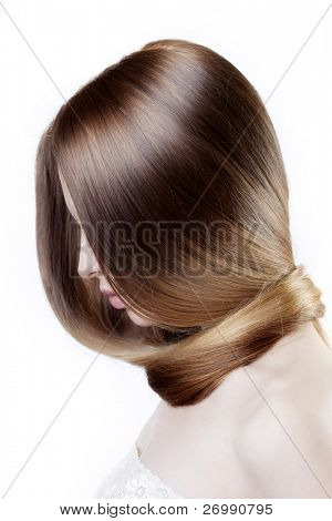 Image of girl with beautiful hair