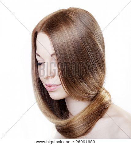 La imagen de una chica con un cabello hermoso