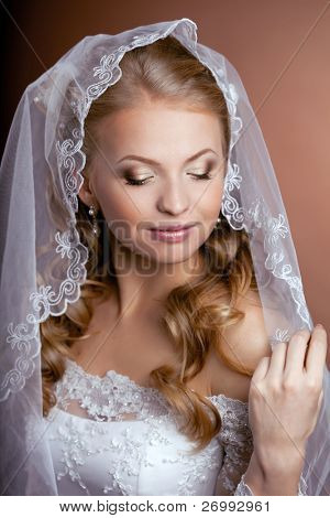 The image of a beautiful bride