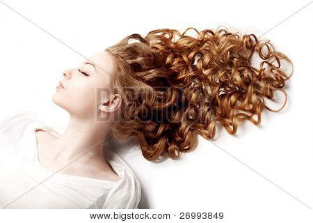 Image of girl with perfect curls