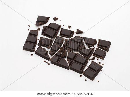 Broke chocolate bar. Chocolate bar.