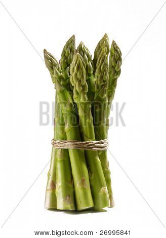 Bundle of green asparagus, Light food,