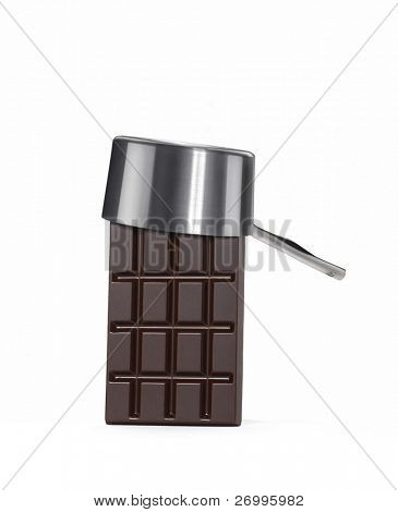 One chocolate bar with pan cap.