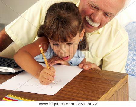 avôs e estudar neta.