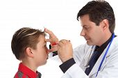 Doctor Checking Patient Eyes