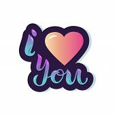 I Love You With Pink Heart poster