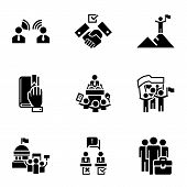 Political Election Icon Set. Simple Set Of 9 Political Election Vector Icons For Web Design Isolated poster