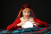 picture of fortune-teller  - fortune - JPG