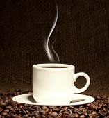 image of cup coffee  - fresh coffee - JPG