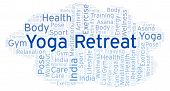 Yoga Retreat Word Cloud. Wordcloud Made With Text Only. poster