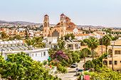 View Of The City Of Paphos In Cyprus. Paphos Is Known As The Center Of Ancient History And Culture O poster