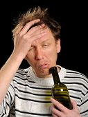 stock photo of hangover  - hangover after drinking - JPG