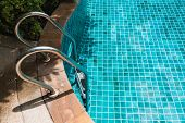 Top View Staircase Swimming Pool In Hotel Resort, Nobody poster