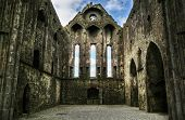 stock photo of church interior  - Ruins of Cashel - JPG