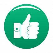 Hand Excellent Icon. Simple Illustration Of Hand Excellent Vector Icon For Any Design Green poster
