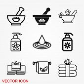 Aromatherapy Icon, Accessory For Aromatherapy. Concept Illustration For Web Site poster