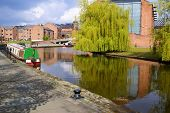 picture of flatboat  - Bridgewater Canals in Manchester - JPG