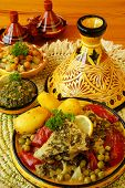 picture of tagine  - Moroccan chermoula fish tajine - JPG