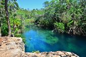 stock photo of groundwater  - Cenote Escondido - JPG