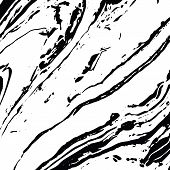 Vector Black And White Liquid Texture. Distress Watercolor Hand Drawn Marbling Illustration. Grunge  poster