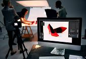 Product photography shoot of shoes poster