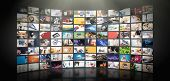Television Streaming Video Concept. Media Tv Video On Demand Technology. Video Service With Internet poster
