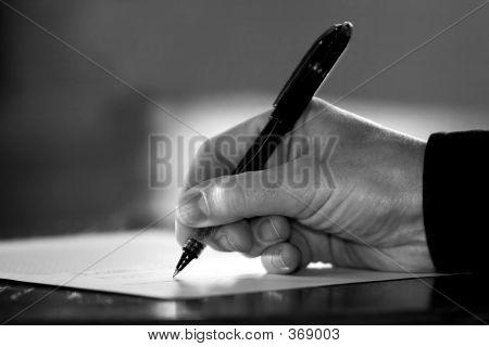 Signo de la mano B&w