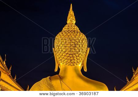 Back Bhudda Head
