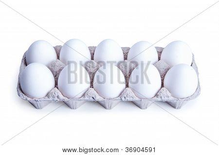 Ten White Eggs In A Box