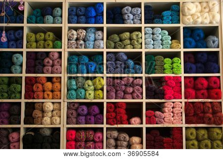 Selection Of Yarn Wool