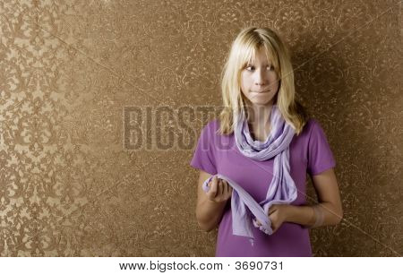 Apprehensive Young Girl