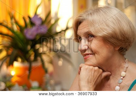 Cute old woman
