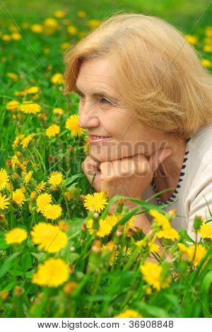 Lovely lady enjoys union with nature