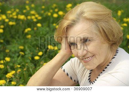 Noble lady enjoys union with nature