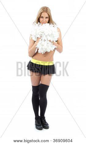 Cheerleader Woman Dancer Girls From Cheerleading Team Smiling