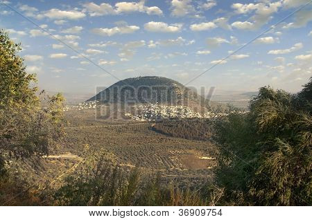 Biblical Mount Tavor And The Arab Village