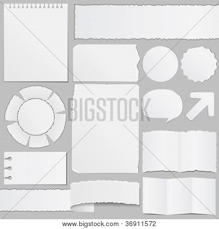 Old paper objects set